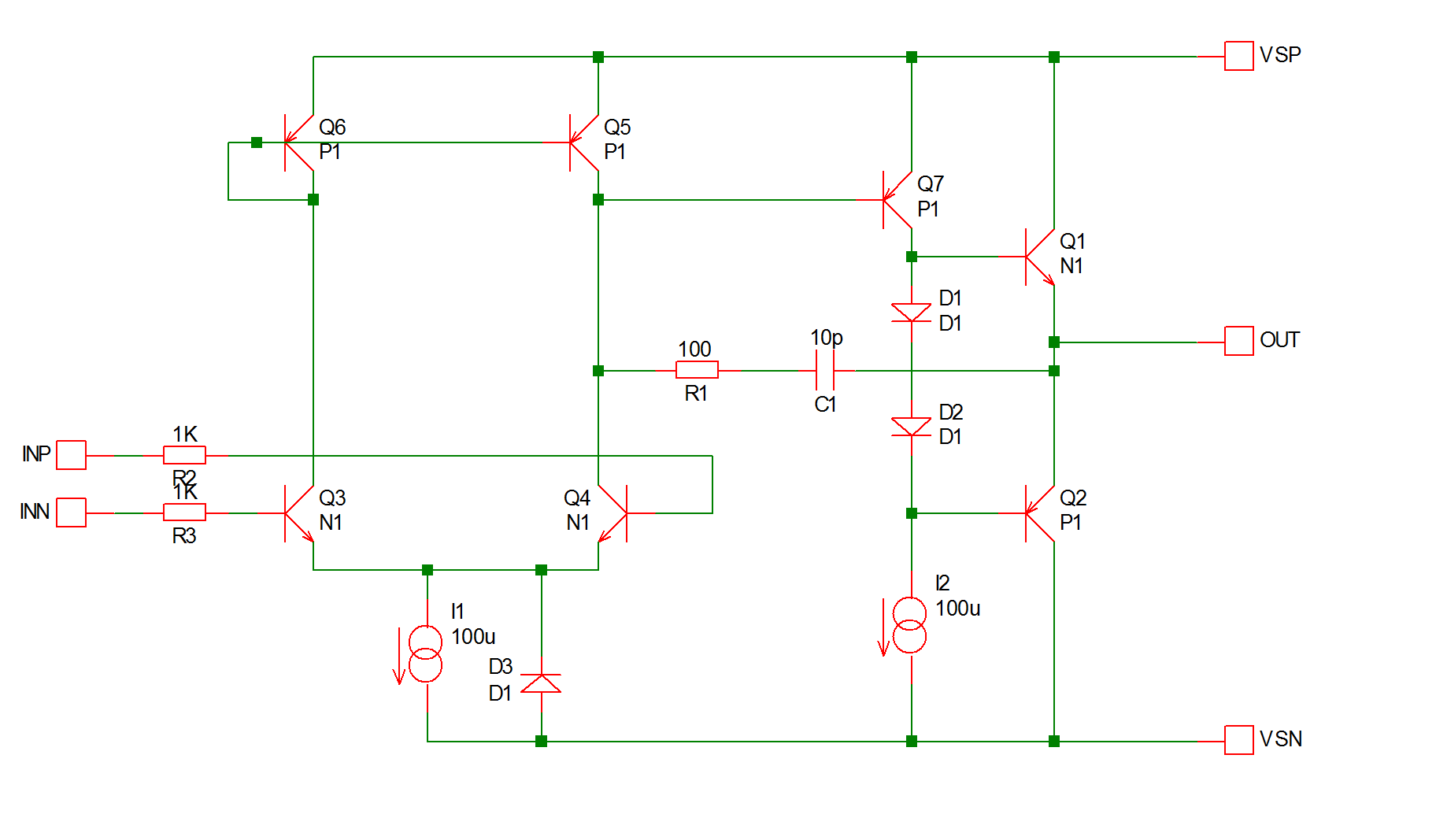 hight resolution of this is circuit of a simple op amp in fact it is the circuit of our fictitious sxoa1000 op amp used in tutorial 3