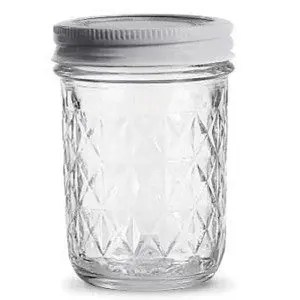 Empty 8 ounce jelly jar