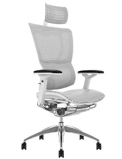 white mesh office chair uk space saving dining table and chairs mirus with frame hearest ergohuman head rest