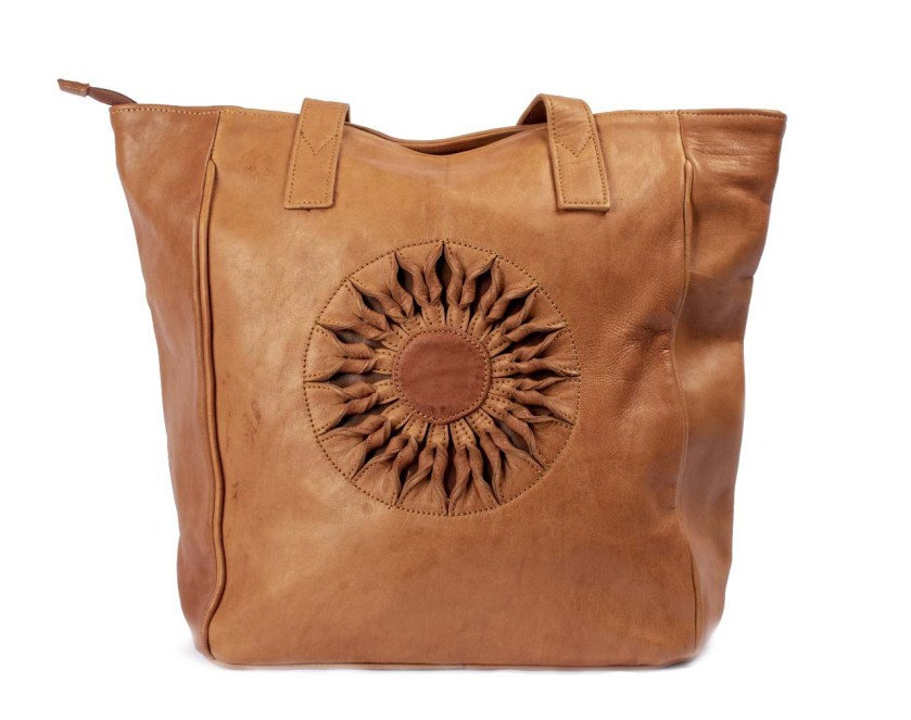 Moroccan brown leather bag