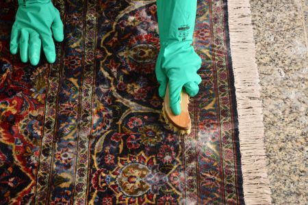 how to clean wool carpet at home