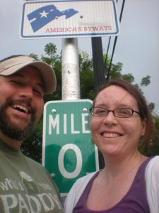 Here we are at Mile 0 having no idea what the future held.