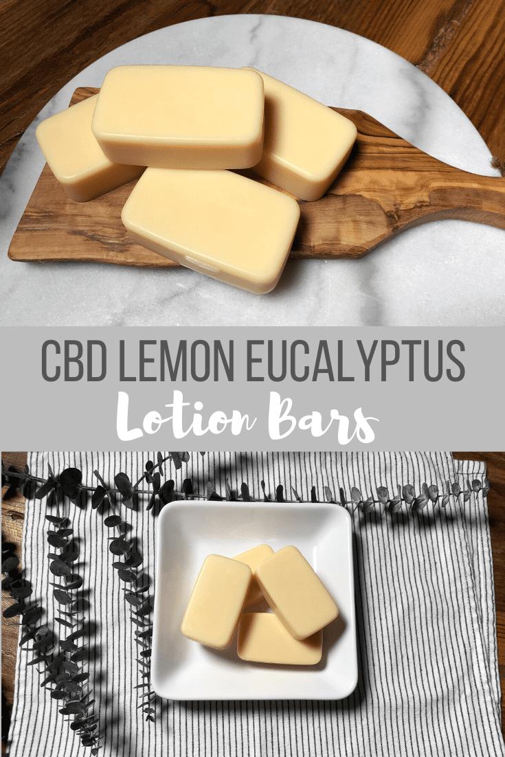CBD Lemon Eucalyptus Lotion Bars