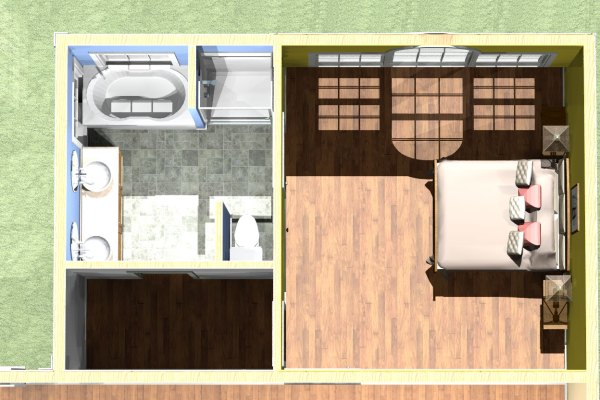 Master Bedroom Suite Addition Floor Plans