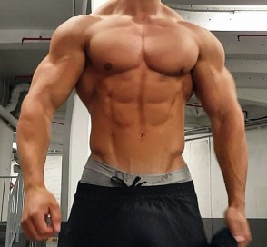 a picture of a lean man with muscles