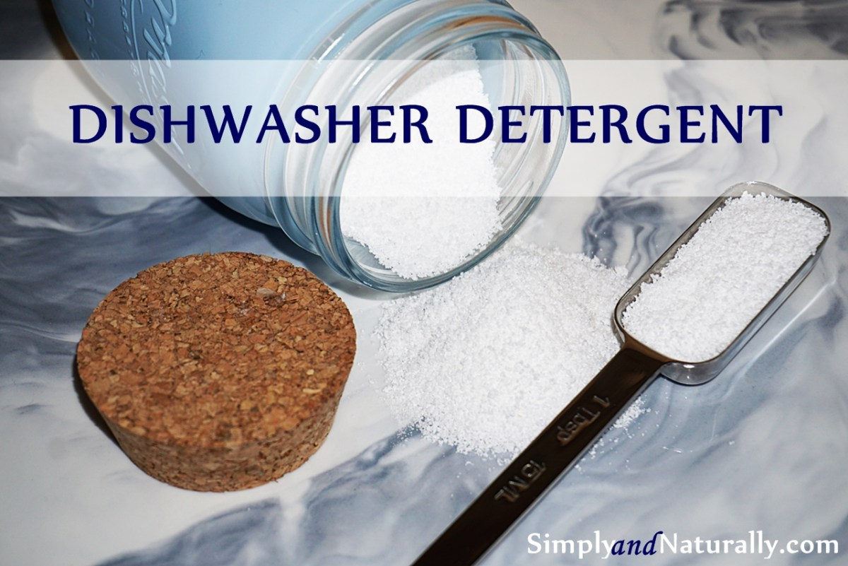 Natural Homemade Dishwasher Detergent Recipe
