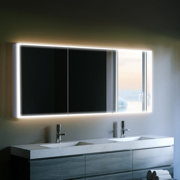 Hib Qubic Led Illuminated Mirror Cabinet 1200 X 700mm