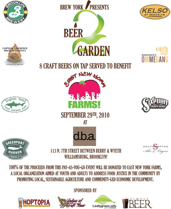 Beer 2 Garden NYC Craft Beer Week
