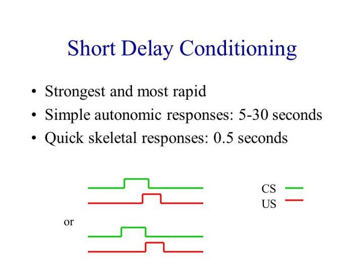 short-delay-conditioning