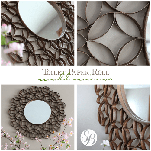 Toilet Paper Roll Mirror Wall Art Simply Bloom Co