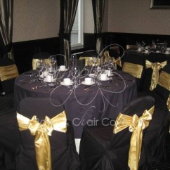 Gold Chair Covers With Black Sash Hanging Egg Zippay Wedding And Planning Aberdeen Gallery Rox Satin Sashes On At Hotel