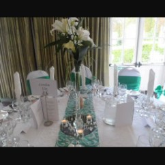 Chair Cover Hire Dunfermline Serta Executive Office Wedding Covers And Planning Dundee Perth Fife Emerald Green Satin On White