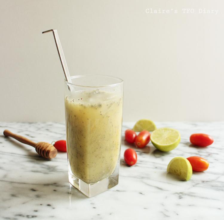 奇亞籽百香果汁
