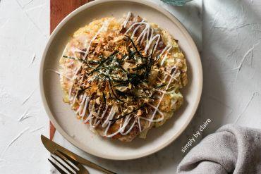 花椰菜米作生酮版的大阪燒