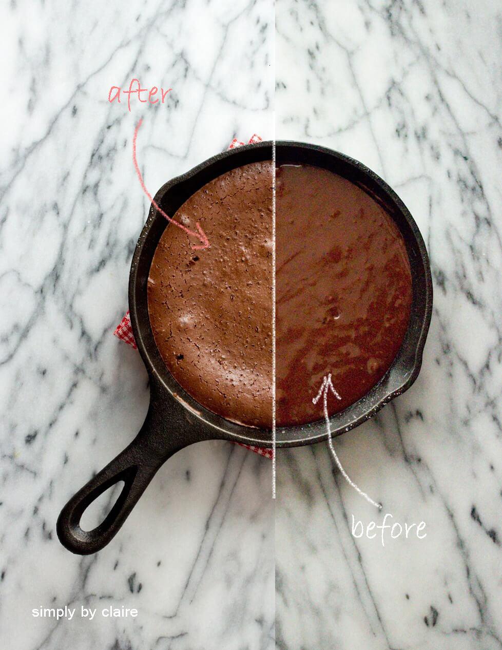 鑄鐵鍋烤布朗尼