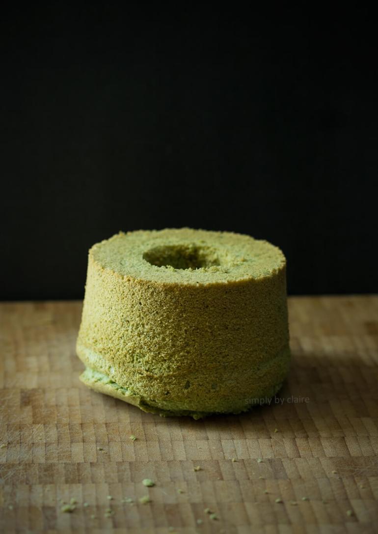 迷你抹茶戚風蛋糕