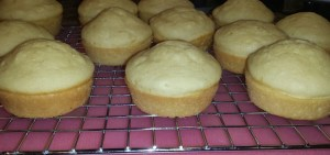Pancake Muffins Maple Buttercream Frosting cooling rack