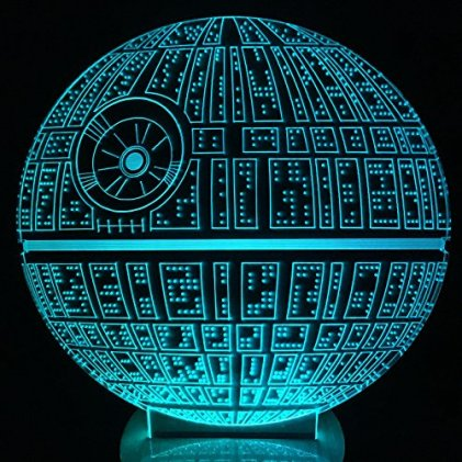 Best gifts for Star wars fans - The Force Awakens ! Multi-colored Death Star Table Lamp 3D Death Star Bulbing Light for Star Wars Fans