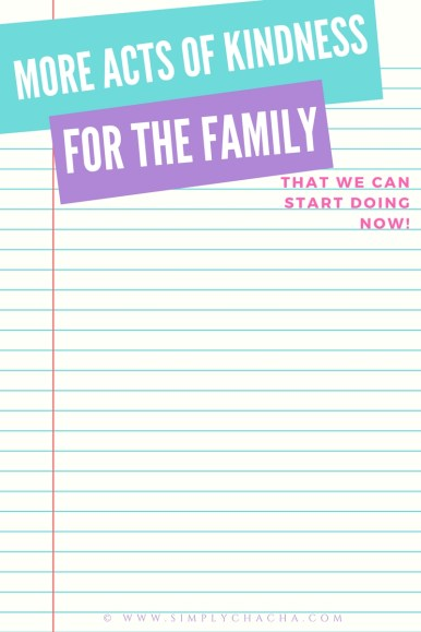 KINDNESS CHALLENGE 15 random acts of kindness for kids PLUS a blank page to add on for the family. Get your printables HERE!