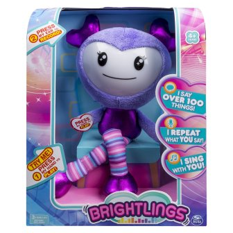"""HOLIDAY GIFT GUIDE 2016 HOTTEST TOYS AGES 2-4 BRIGHTLINGS Interactive Singing, Talking 15"""" Plush"""