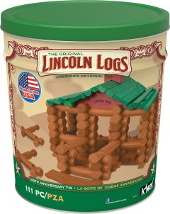 HOLIDAY GIFT GUIDES 2016 HOTTEST TOYS AGES 2-4 LINCOLN LOGS – 100th Anniversary Tin - 111 All-Wood Pieces