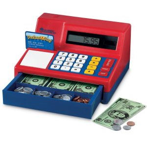 HOLIDAY GIFT GUIDE 2016- HOTTEST TOYS AGES 2-4 Learning Resources Pretend & Play Calculator Cash Register, Regular, Standard Packaging (Red/Blue)