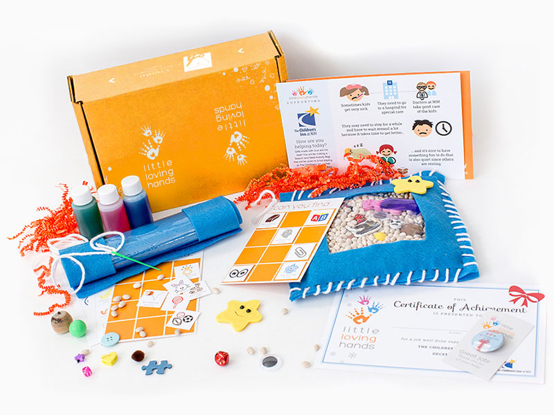 Every month, a new box with craft materials designed to help your child learn about charitable giving. Includes educational content about the organization in need, certificate of achievement, collectable button, and more!