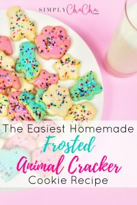 The Easiest Homemade Frosted Animal Cracker Cookie Recipe!