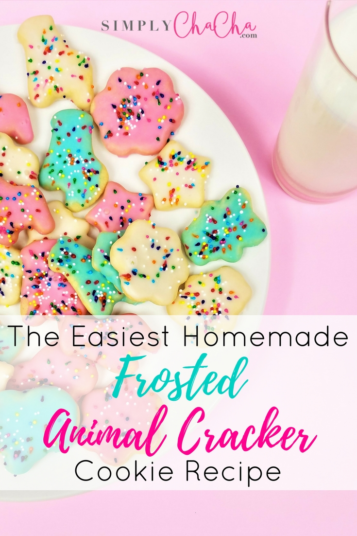 Easiest Frosted Animal Cracker Cookie Recipe