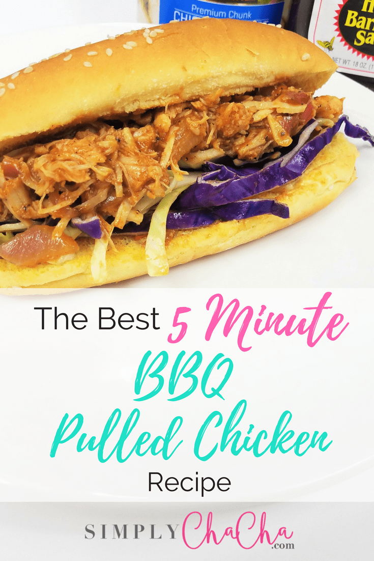 5 Minute BBQ Pulled Chicken