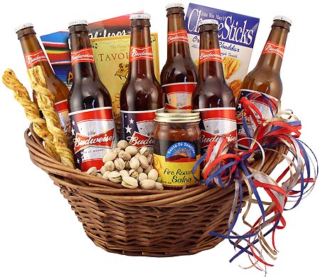 budweiser beer basket