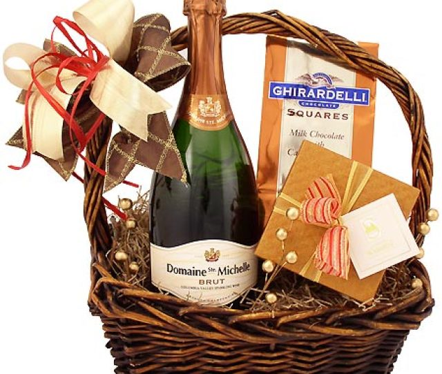 Champagne Sweetness Gift Basket