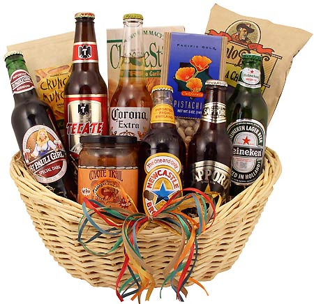 imported beer basket