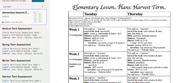 el-plans-homeschool-evernote