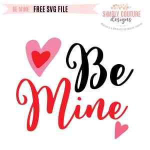 Be Mine Valentine's Day Free SVG File