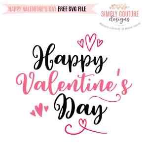Happy Valentine's Day Free SVG Cut File