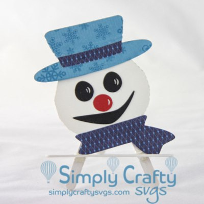 Snowman Gift Card Holder SVG File
