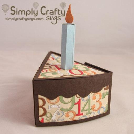 Cake Slice Box SVG File