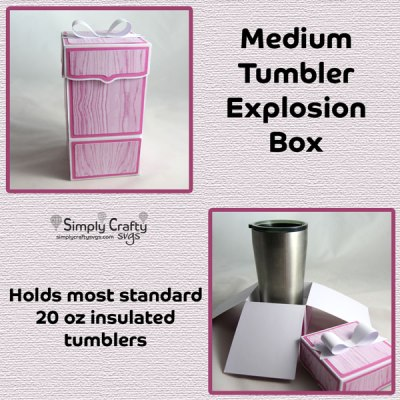 Medium Tumbler Explosion Box SVG File