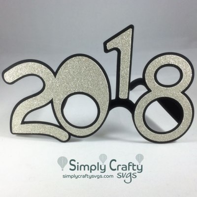 2018 New Years Glasses SVG file