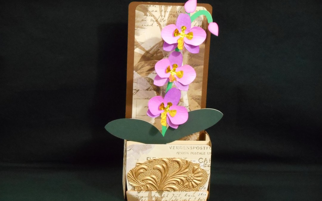 Orchid Box Card by DT Jana