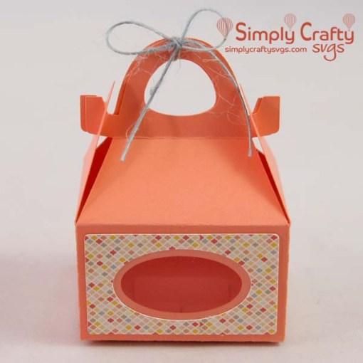 Mini Gable Gift Box SVG File