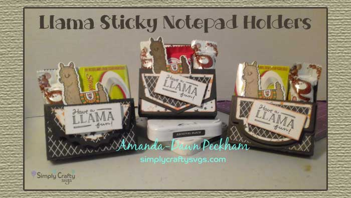 Llama Sticky Notepad Holders by DT Amanda