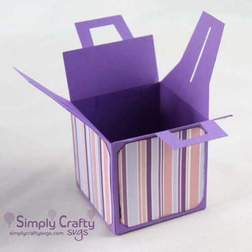 Square Box with Handle Set SVG File