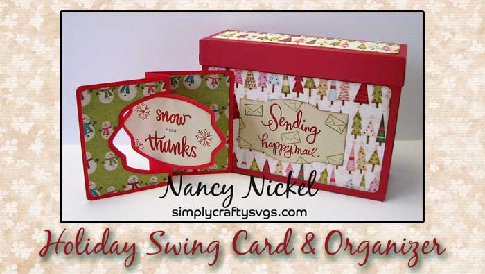 Holiday Swing Card with Organizer by DT Nancy