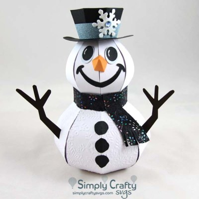Smiling Snowman SVG File
