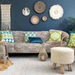 Green Cushions Living Room Color Ideas For With Brown Couch How To Decorate Scatter Australia Simply Boho Chic Styled Teal And