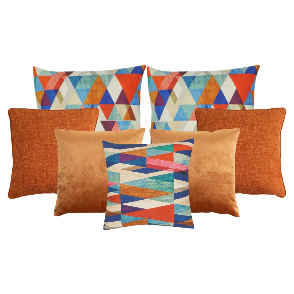 vivid copper 7 cushion cover collection