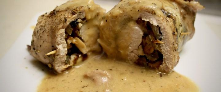 7-7: Mushroom-Stuffed Pork Rolls