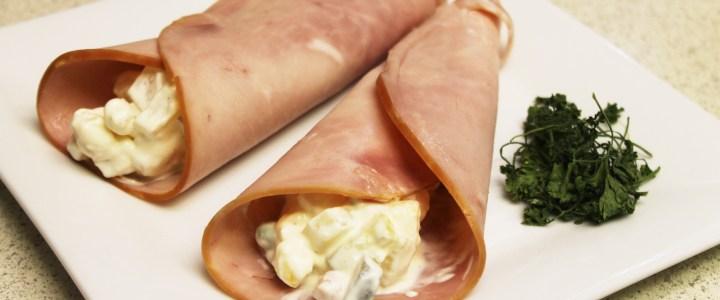 1-11: Ham Rolls with Italian Salad